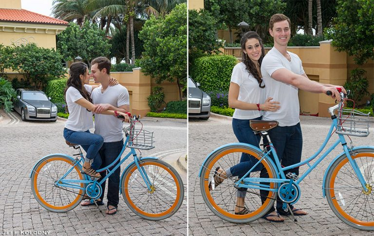 Engagement Pictures taken at the Eau Palm Beach