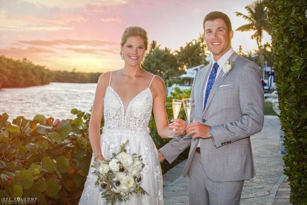 Ocean Reef Club wedding on a perfect day.